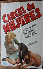Used - Cartel de Cine  CARCELES DE MUJERES  Vintage Movie Film Poster - Usado