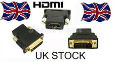 HDMI DVI-D maschio a HDMI Adattatore Convertitore Video femmina (24+1) 25 Pin Placcato Oro
