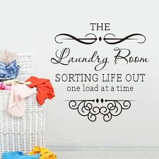 Quote Sticker Laundry Sorting Life Out One Wall Art Home Decor Decal Vinyl