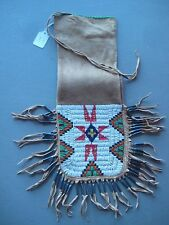NORTHERN PLAINS BEADED PIPE BAG, AMERICAN INDIAN BEADED CHANUPA BAG,  CO-331