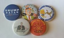 "Lot of 5 2.25"" Anti Donald Trump in 2016 Pinbacks Buttons Collectors Pack"