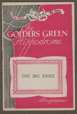 The Big Knife. Golders Green.  Frank Singuineau Theatre Programme.    c84