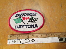 SPEEDWAY 1984 DAYTONA EMBROIDERED PATCH - SEW ON TYPE