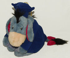 "DISNEY - EEYORE - Cap & Gown - GRADUATION - 14"" Plush / Stuffed TOY"