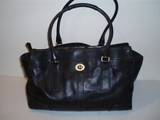 COACH *Hampton* Black Leather XL Business/Laptop/Carry All/Satchel #11049