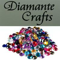 200 x 6mm Mixed Colours Diamante  Loose Round Flat Back Rhinestone Craft Gems