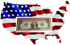 $1 - 22K GOLD DOLLAR BILL - HOLOGRAM COLORIZED - USA NOTES -