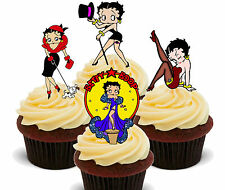 Betty Boop Mezcla Comestible Cupcake Toppers, levantado Hada Cake Bollo Decoraciones, niña