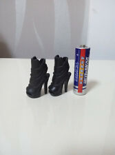 "Custom Cosplay DIY 1/6th Black Women's Shoe For 12"" Phicen Female Figure Body"