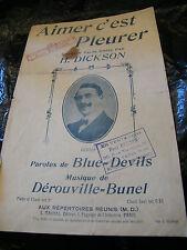 Partition Aimer c'est pleurer H Dickson Dérouville Bunel Music Sheet