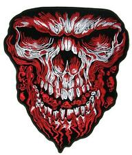 large JUMBO BLOOD SKULL FACE JACKET BACK PATCH #086 EMBROIDERED SKULLS HEAD 11IN