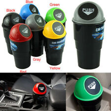 Auto Car Office Home Black Waste Trash Bin Rubbish Can Garbage Dust Holder Case