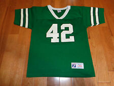 NEW YORK JETS LOTT # 42 LOGO 7 MADE IN USA JERSEY KIDS SIZE L