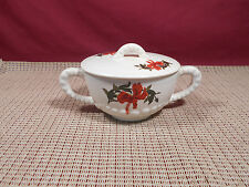 Vintage Crooksville China Hibiscus Pattern Sugar Dish