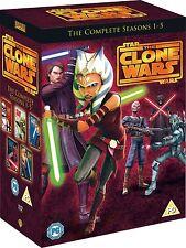 STAR WARS CLONE WARS SEASON 1 TO 5 DVD BOX SET REGION 2 NEW