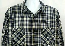 Timberland Slim Fit Mens sz XXL 2XL LS Button Front Shirt Blue White Check M6