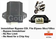 Bypass Immobiliser CDI Comaptibile Con Peugeot Elyseo 50cc 100cc Chip Chiave