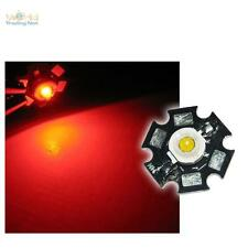 10 x Di alta prestazione LED Chip 1W ROSSO HIGHPOWER STAR LED