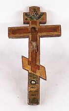Antique Russian Wooden Crucifix Cross 19 Century