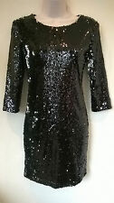 BNWT Sweet Poison Stunning black sequin  bodycon Dress Size UK 10