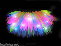FUN NEON TUTU LIGHT UP TUTUS LONGER LENGTH 80S HEN PARTY NEON FANCY DRESS TUTU