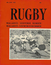 RUGBY Jul/Aug 1963 SOUTH AFRICA MAGAZINE Wallabies Souvenir Number AUSTRALIA