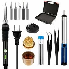 Smraza Electronic Soldering Iron Kit with Adjustable Temperature and ON/OFF 8 in