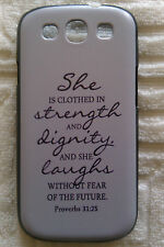 Brand New 'Proverbs 31:25' Cover Case FOR SAMSUNG Galaxy S3 i9300 S III