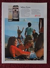 1976 Print Ad Smirnoff Vodka ~ Yellow Fever Smirnoff & Lemonade Beach Volleyball