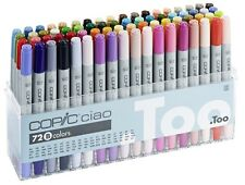 COPIC CIAO MARKER - 72B PEN SET - TWIN TIPPED - 72 UNIQUE COLOURS - MANGA MARKER