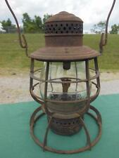 ANTIQUE ARMSPEAR CO C&O RY RAILROAD RAILWAY TRAIN RR OIL LANTERN EMBOSSED GLOBE