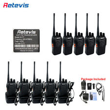 10x Retevis H777 Walkie Talkie 16CH UHF400-470MHz 5W Two Way Radio& Earpiece US