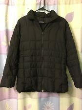 Lands' End Black Down Jacket Cost Women's S Small 6-8 Puffer