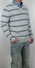 NWT Tommy Hilfiger Men V Neck Logo Classic Fit Striped Sweater Sweat Shirt