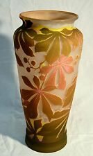 ANTICO VASO ART NOUVEAU EPOCA  EMILE GALLE VETRO EPOCA ORIGINALE NANCY LIBERTY