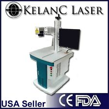 20W Fiber Optic Marking / Marker / Engraving Laser with cabinet FDA NEW