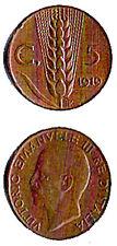 Vittorio Em.le III° - 1919 - cent 5 - Spiga - 2° tipo - 2 -
