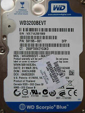 320 GB Western Digital WD3200BEVT-60A23T0 / HHCVJHBB / MAR 2010 disque dur