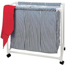 Laundry Trolley 3 Fan Linen Box Textiles Storage Basket Washing Collector