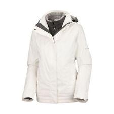 Columbia Women's Sleet To Street 3-in-1 Ski Jacket Coat - White L (Missing Hood)