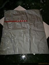 PRADA NEW large gray dust bag sleeper for handbag or shoes boots 15X17.5