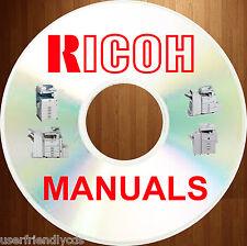Gestetner RICOH Aficio Savin Lanier FAX MV SERVICE PARTS MANUALS Manual on a DVD