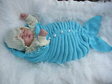 PAPER KNITTING PATTERN TO MAKE *OCEANIA* MERMAID COCOON SET FOR BABY/REBORN DOLL
