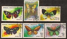 MALAGASY 1992 BUTTERFLY SC # 1080-1085 NH CTO