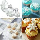 3pcs Snowflake Fondant Cake Decorating Sugarcraft Cutter Plunger Mold Mould F7