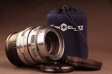 ANAMORPHIC flare lens  2/58mm HELIOS  for SONY E  mount SILVER STYLE de-clicked