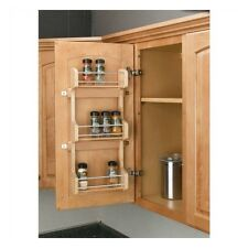 3 Shelf Kitchen Pantry Cabinet Door Mount Organizer Storage Spice Rack Wood New