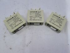 LUTZE RE4-6756 RELAY 110VAC/DC INPUT 0,1mA-5A AC/DC (LOT OF 3) ***NNB***