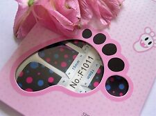 Nail Art Self Adhesive Full Toe Nails Polish Wrap Sticker Pink Black Polka 1011T