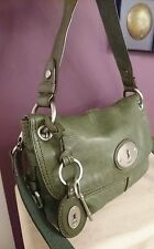 Fossil leather maddox bag messenger bag very good condition. Fossil key charm